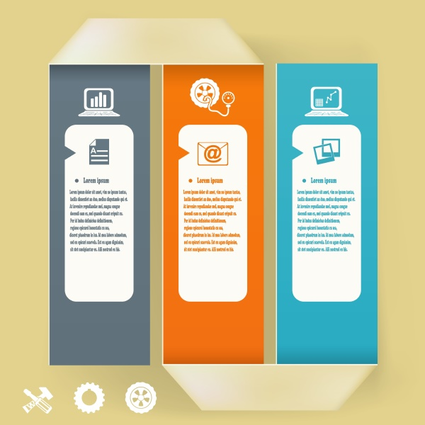 abstract elements of infographics paper