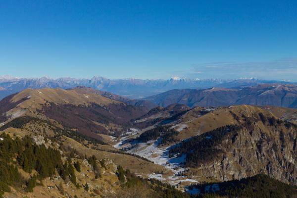 winter landscape italian alps