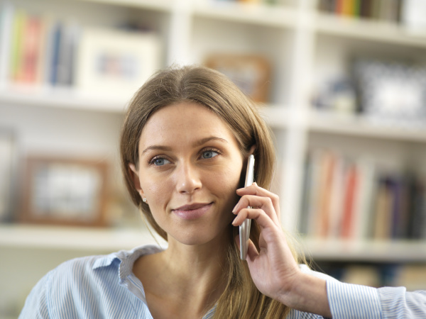 young woman on cell phone at