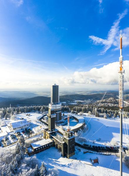 germany hesse schmitten aerial view of