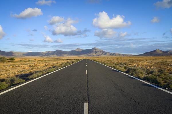 spain canary islands fuerteventura landscape with
