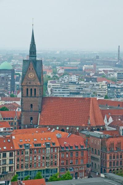 hannover view with market church