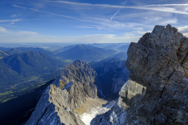 germany bavaria alps view from zugspitze