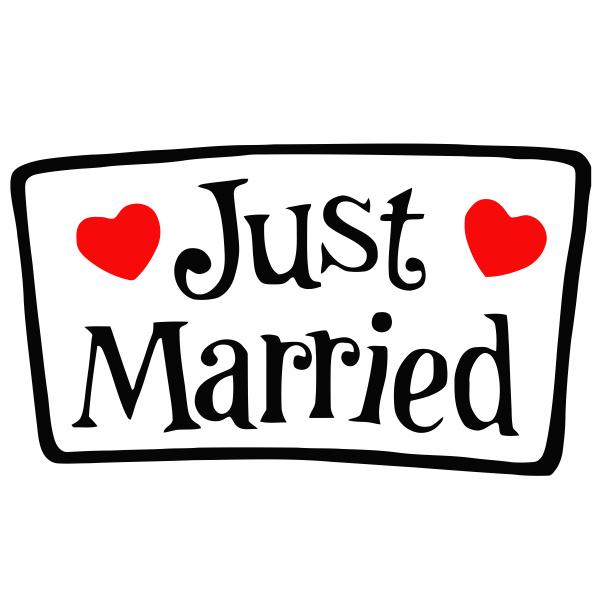 wedding just married love heart
