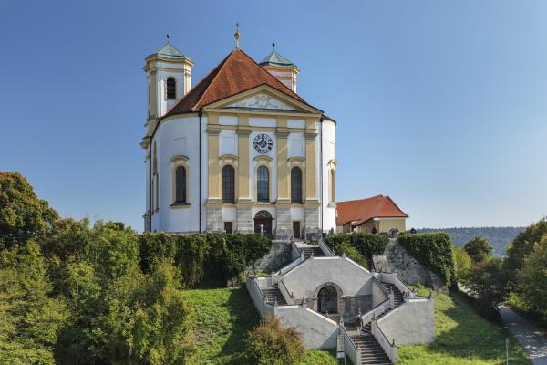 pilgrimage church in marienberg germany europe
