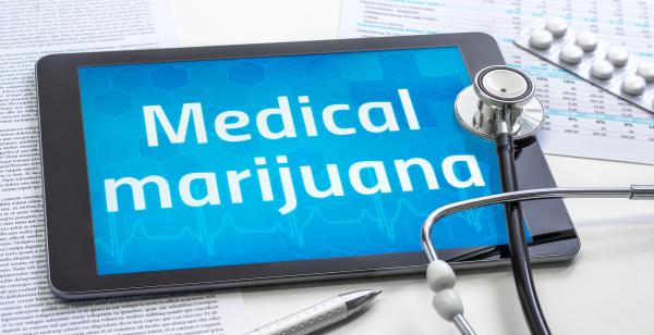 the word medical marijuana on the