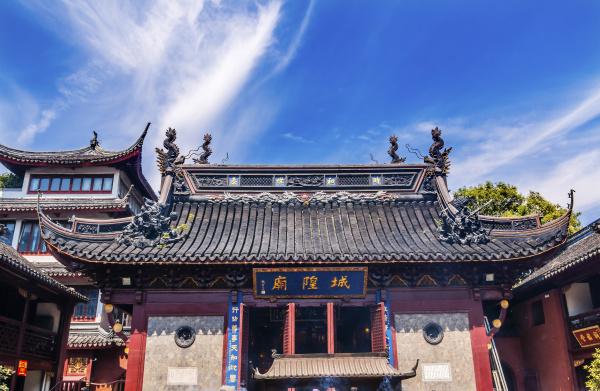 taoist god statues roof city god