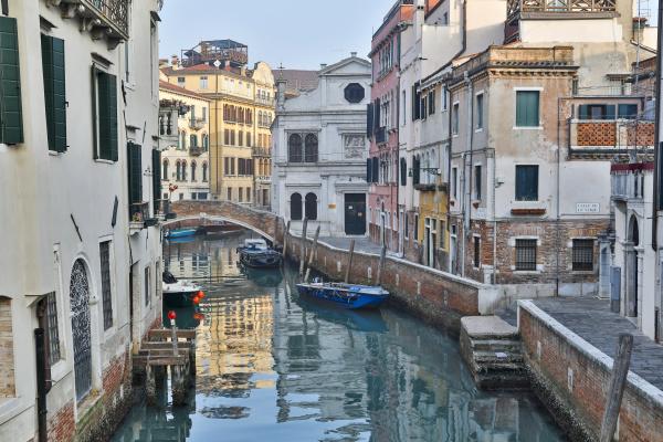 venice italy canal and bridge