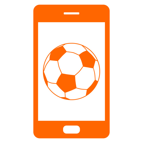 soccer ball and smartphone