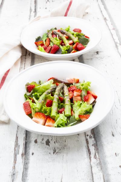 high angle view of fresh salad