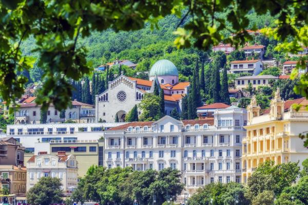 residential buildings in opatija town
