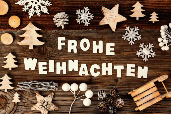 decoration frohe weihnachten means merry