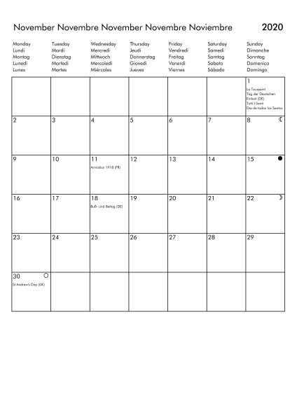 march 2020 calendar uk germany