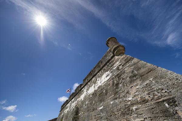 low angle view of castillo de