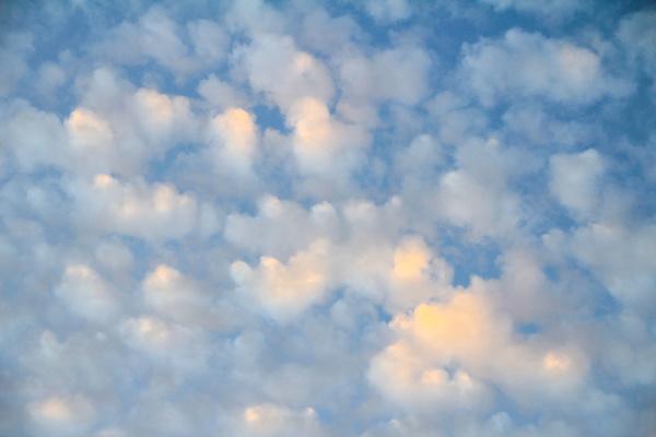 cloudy sky at sunrise