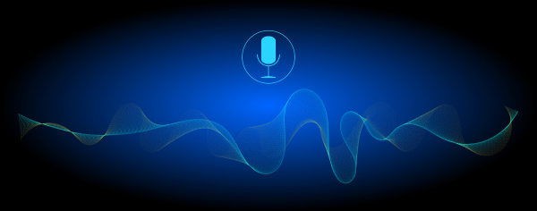 glossy blue voice recognition with a