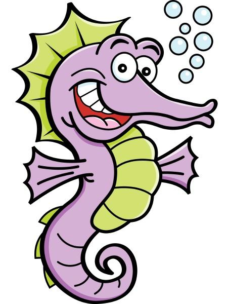 cartoon illustration of a smiling sea