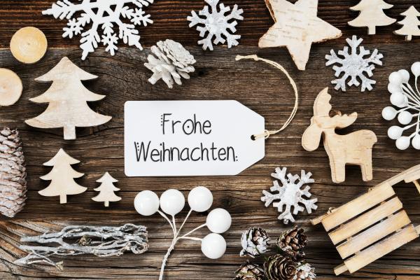 one label frame decoration frohe weihnachten