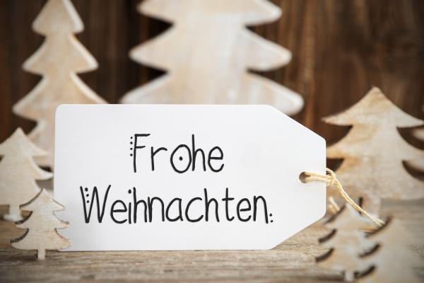 christmas tree label text