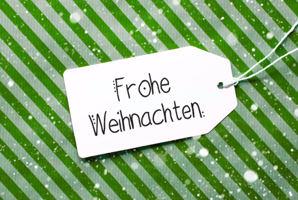 green, wrapping, paper, , label, , frohe, weihnachten - 27434827
