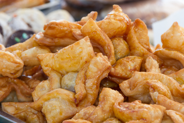 fried pastries stuffed with sweet potato