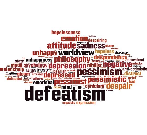 defeatism word cloud