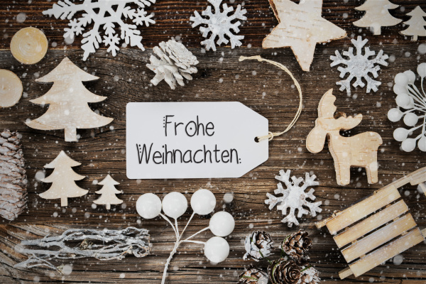 label frame frohe weihnachten means merry