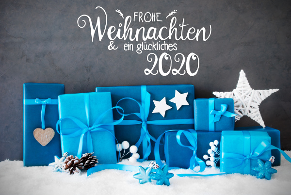 turquois gift snow glueckliches 2020 means
