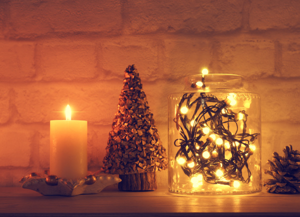 magical christmas lights in a jar