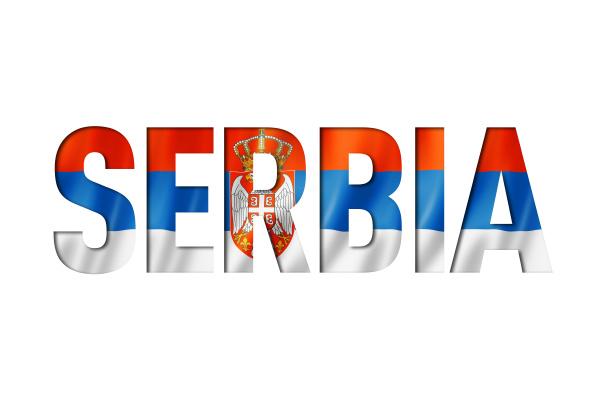 serbian flag text font