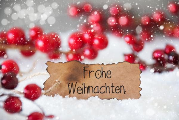 red decoration snow label