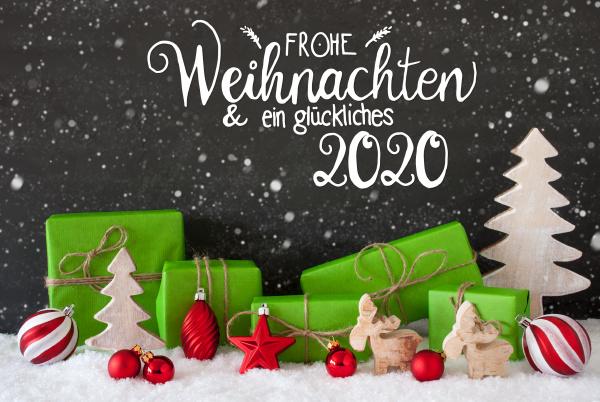 snowflakes tree gift ball glueckliches 2020