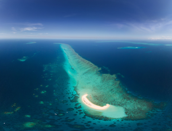aerial view of the great barrier