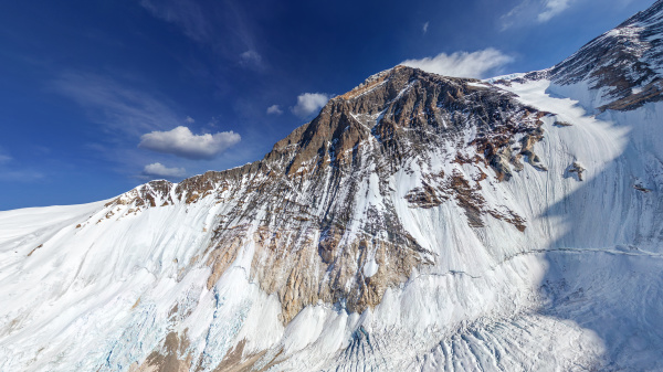aerial view of himalaya mountain