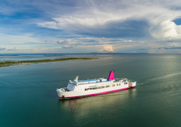 aerial view of one passenger cruise