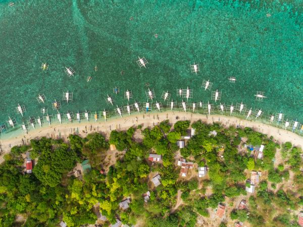 aerial view of beach buildings filipino