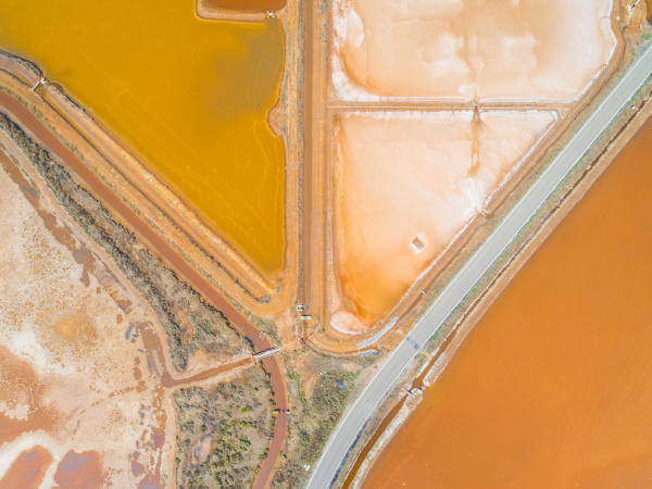 aerial view of long road by
