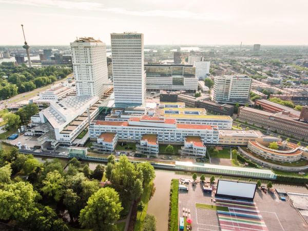 aerial view of rotterdam