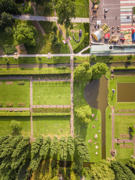 aerial, view, of, a, park, in - 27450872
