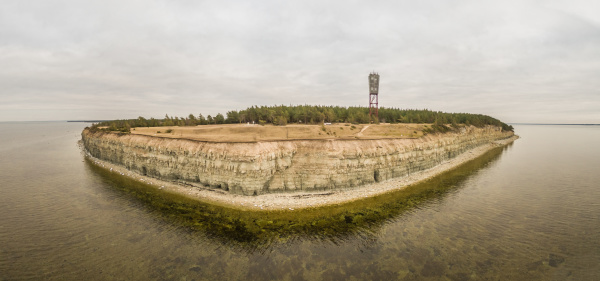 panoramic aerial view of cliff on