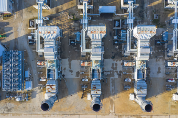 aerial view ofa power generation facility