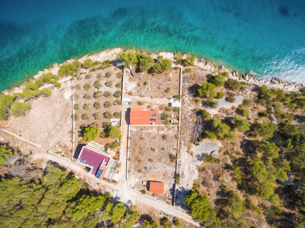 aerial view of estate in bay