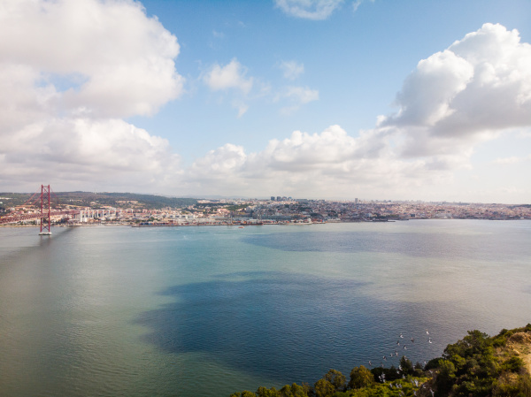 aerial view of lisbon from the
