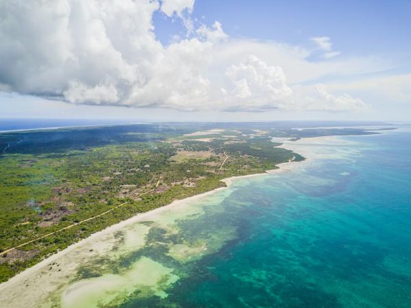 aerial view of the paradisiac coast