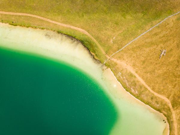 vrazje jezero devils lake a glacial