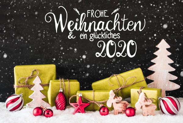 snowflakes gift tree ball glueckliches 2020