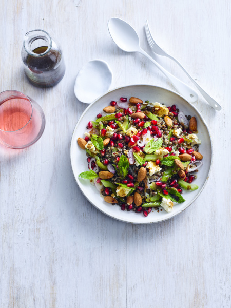 lentil and tricolour quinoa salad with
