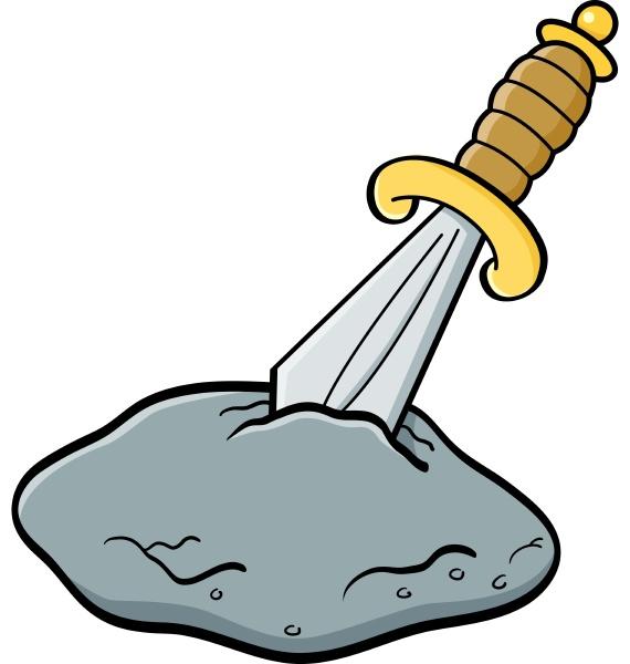 cartoon illustration of a sword in