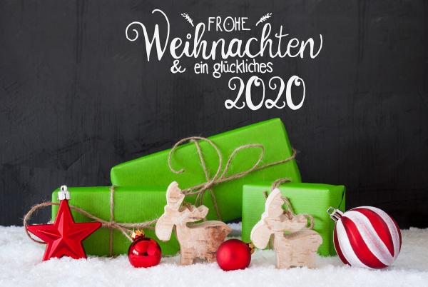 glueckliches 2020 which means happy 2020