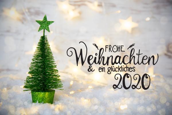 green christmas tree lights star snow